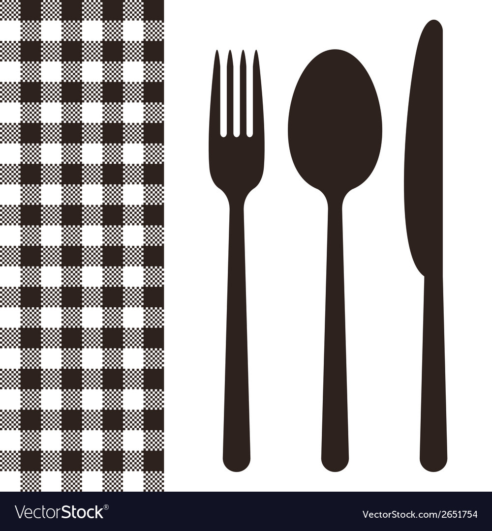Cutlery and tablecloth pattern vector | Price: 1 Credit (USD $1)