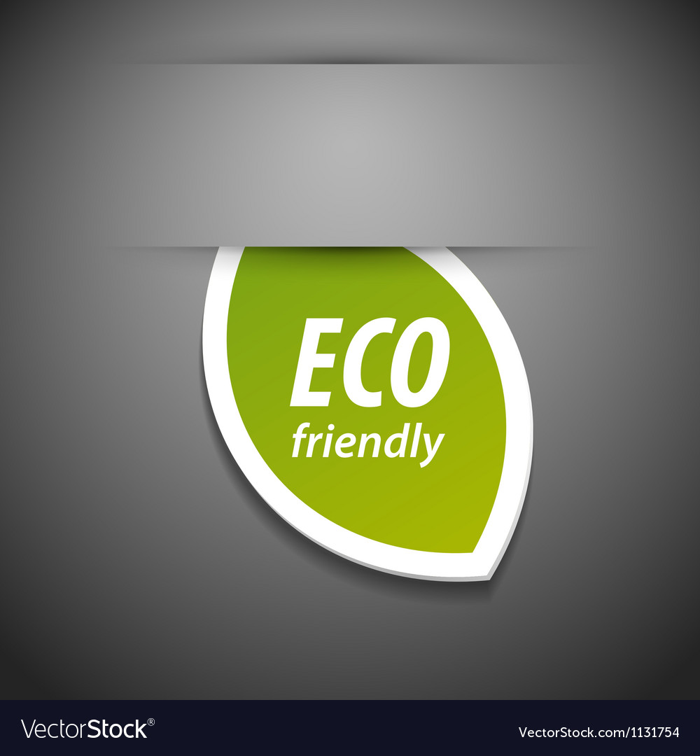 Eco friendly tag vector | Price: 1 Credit (USD $1)