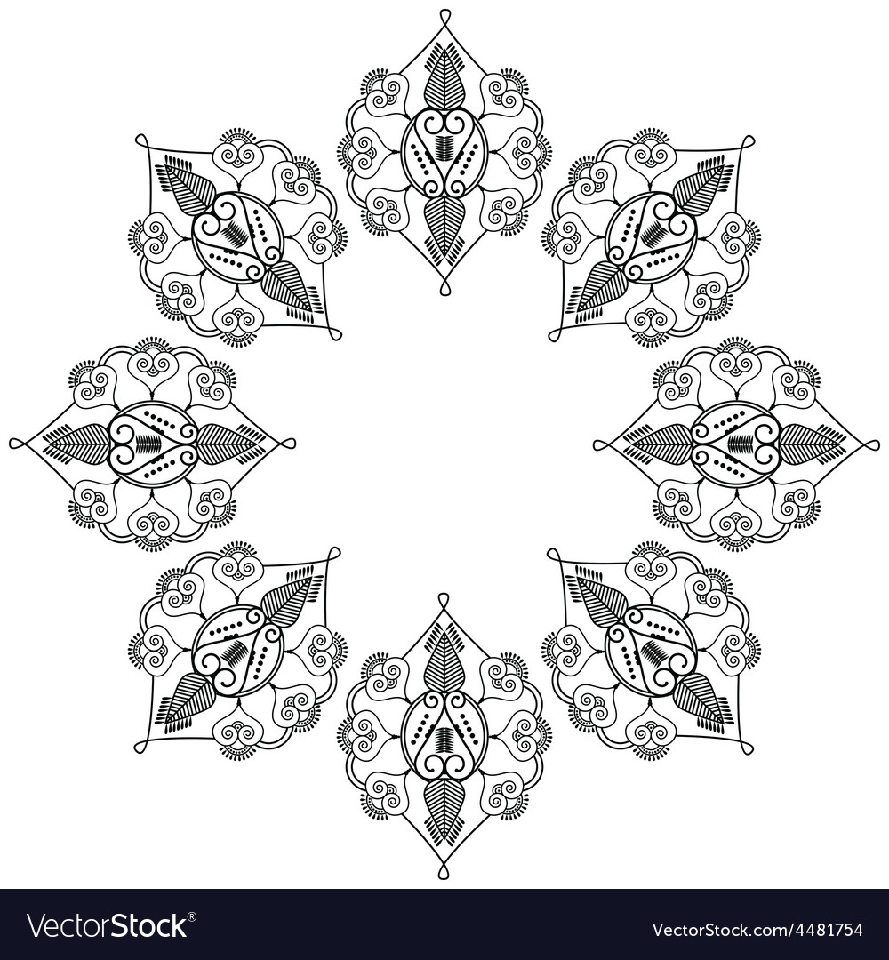 Indian inspired flower shape vector | Price: 1 Credit (USD $1)