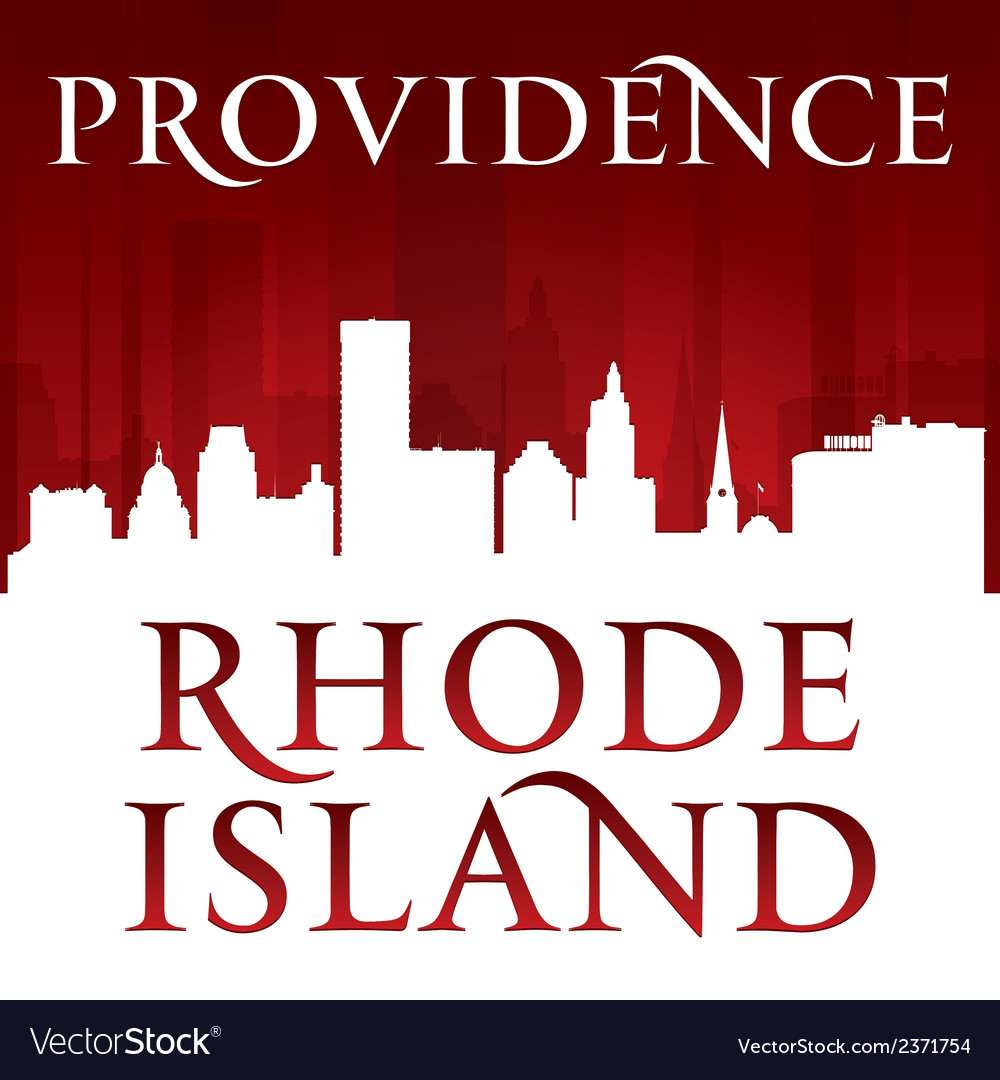 Providence rhode island city skyline silhouette vector | Price: 1 Credit (USD $1)