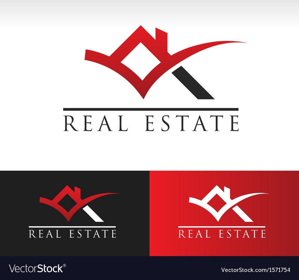 Real estate house roof logo icon vector | Price: 1 Credit (USD $1)
