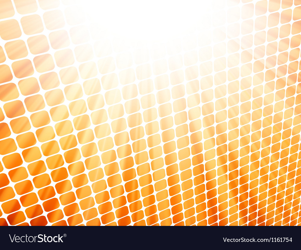 Red yellow rays light 3d mosaic eps 8 vector | Price: 1 Credit (USD $1)