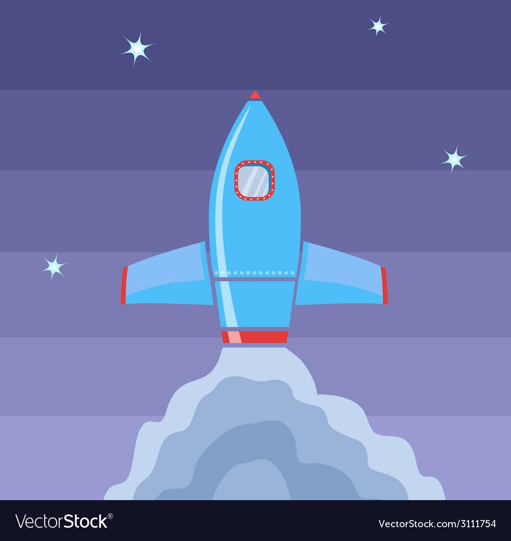 Rocket space vector | Price: 1 Credit (USD $1)