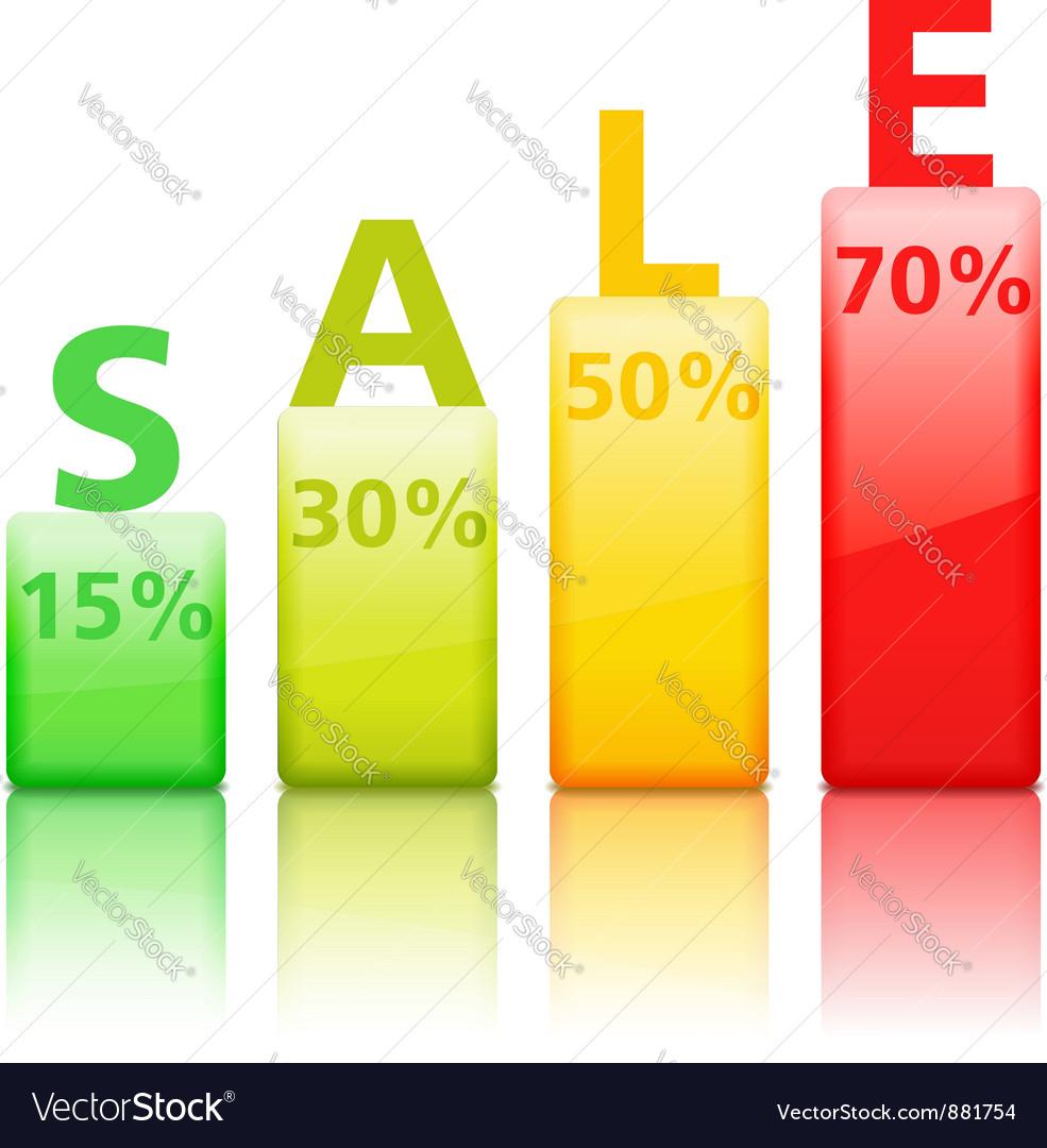Sale graph vector | Price: 1 Credit (USD $1)