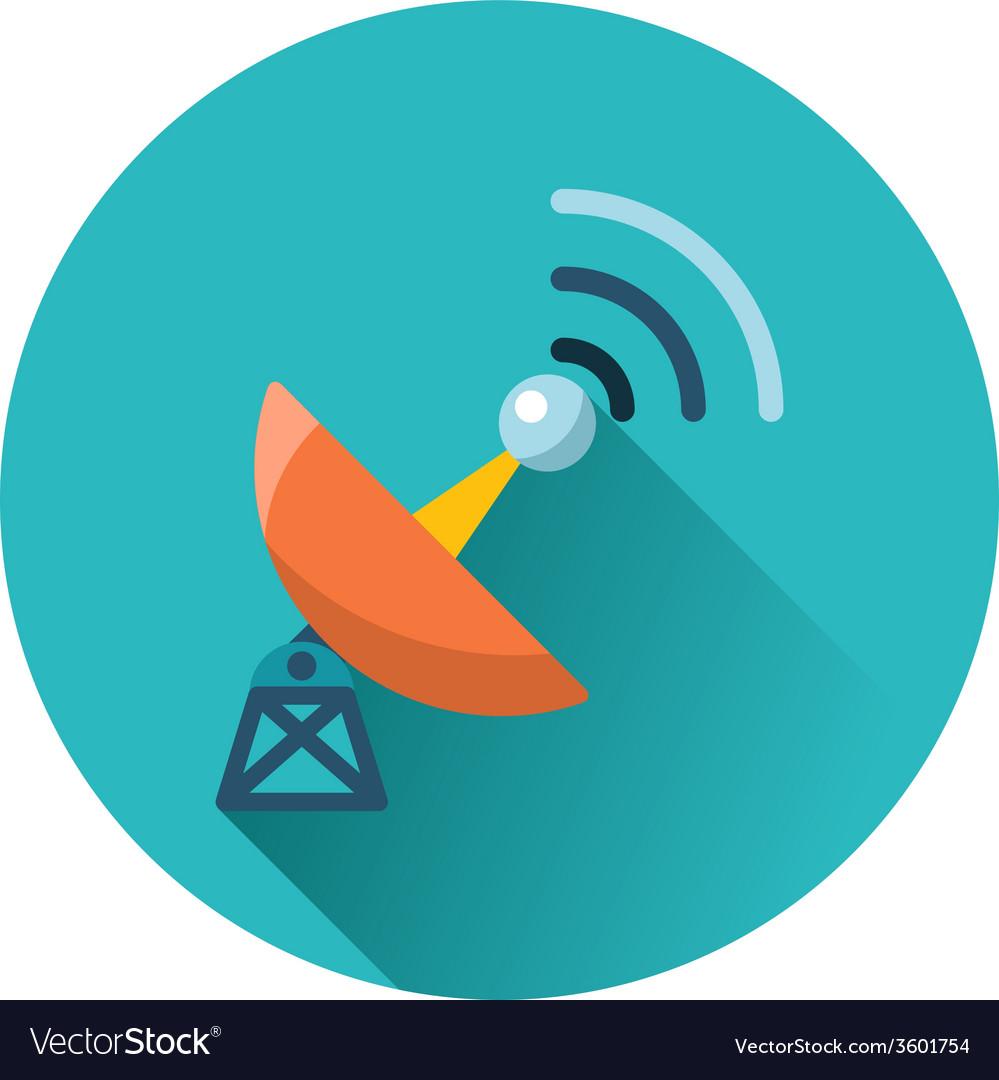 Satellite antenna icon vector | Price: 1 Credit (USD $1)