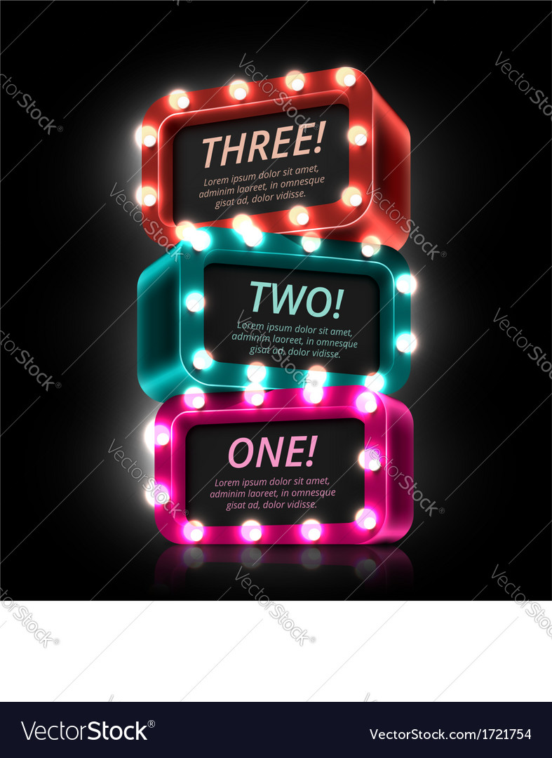 Three steps vector | Price: 1 Credit (USD $1)