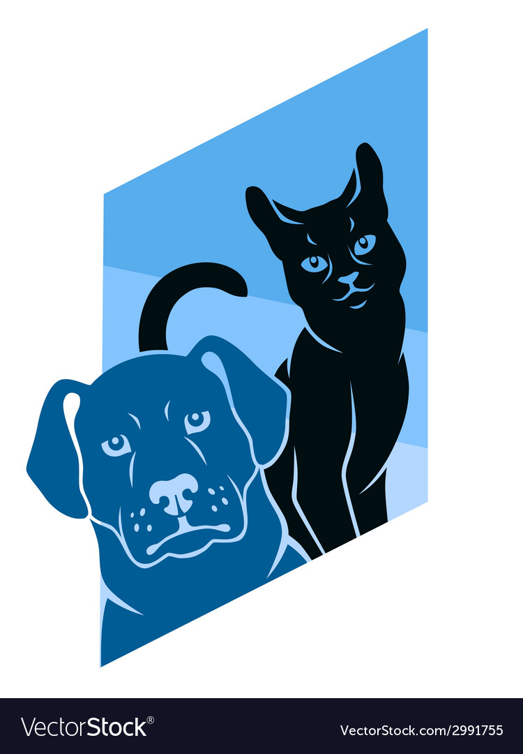 Abstract cat and dog vector | Price: 1 Credit (USD $1)