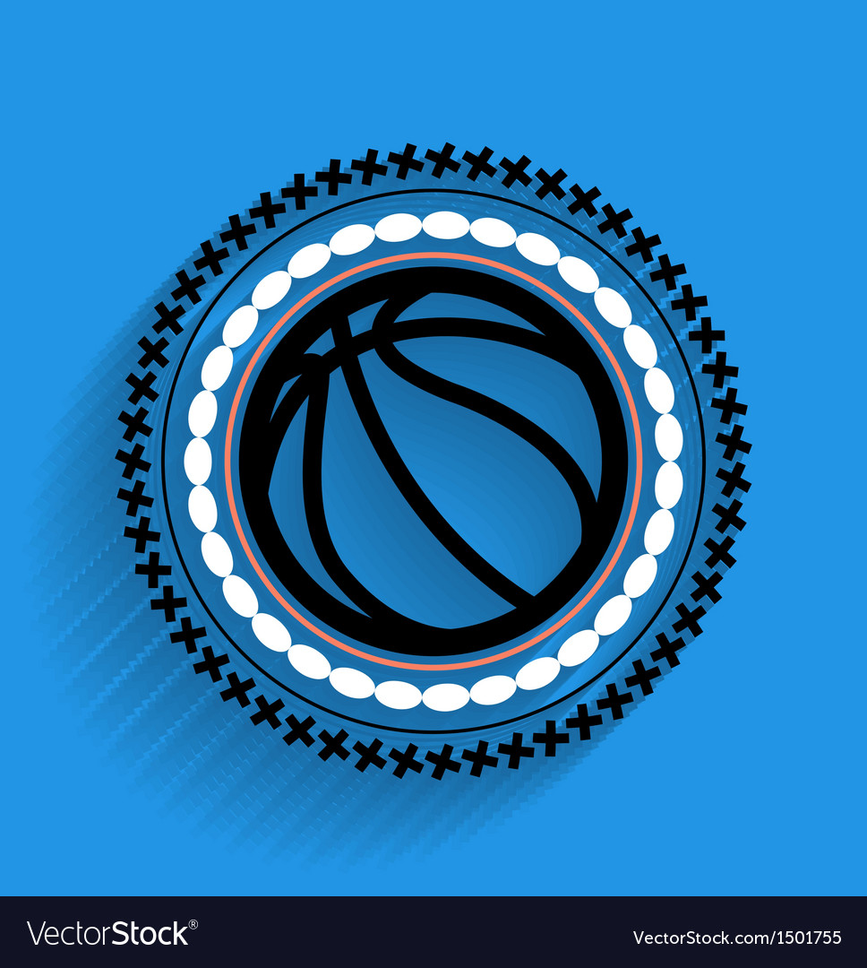 Basketball ball icon flat icon vector | Price: 1 Credit (USD $1)