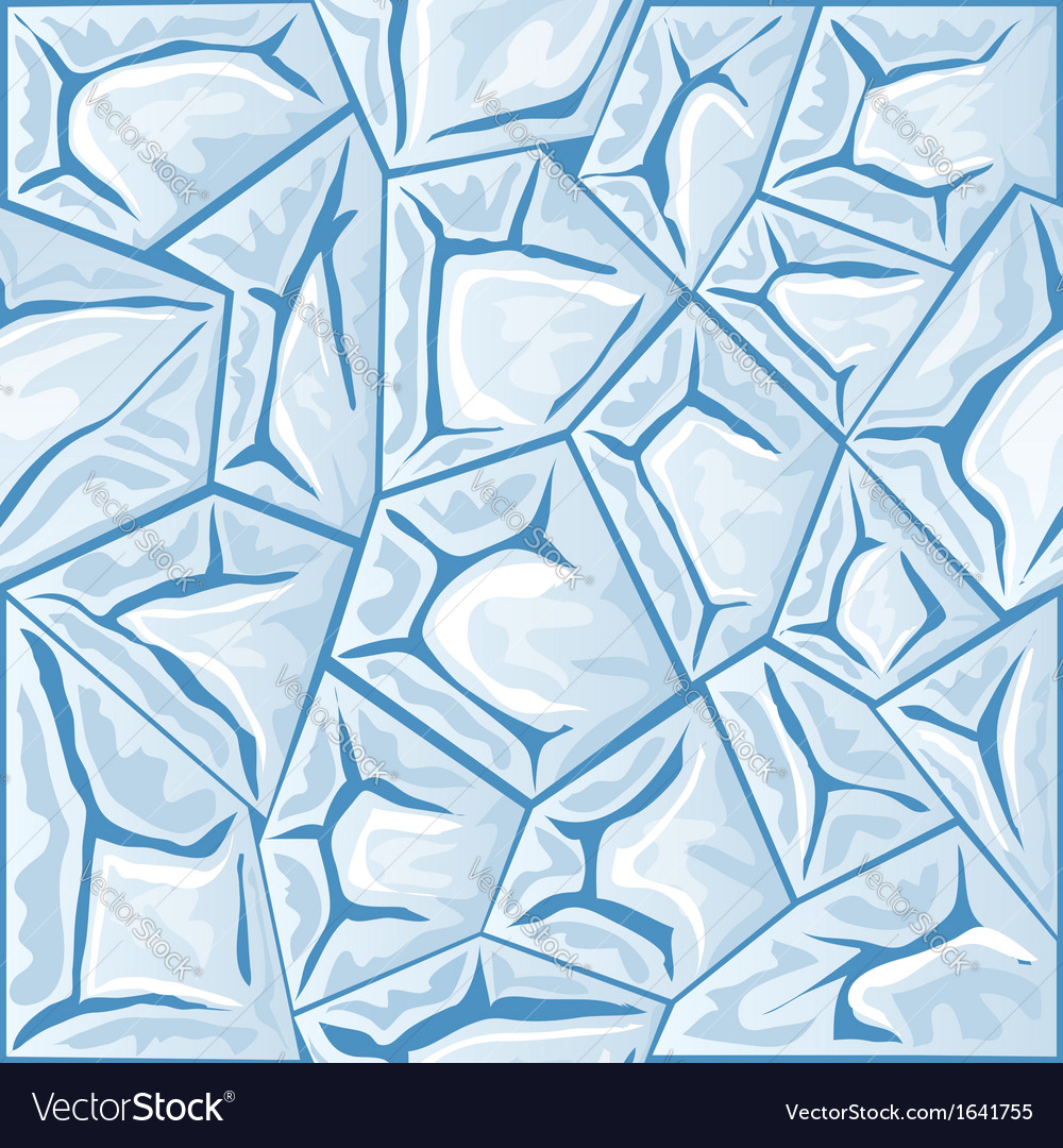 Blue ice seamless pattern vector | Price: 1 Credit (USD $1)
