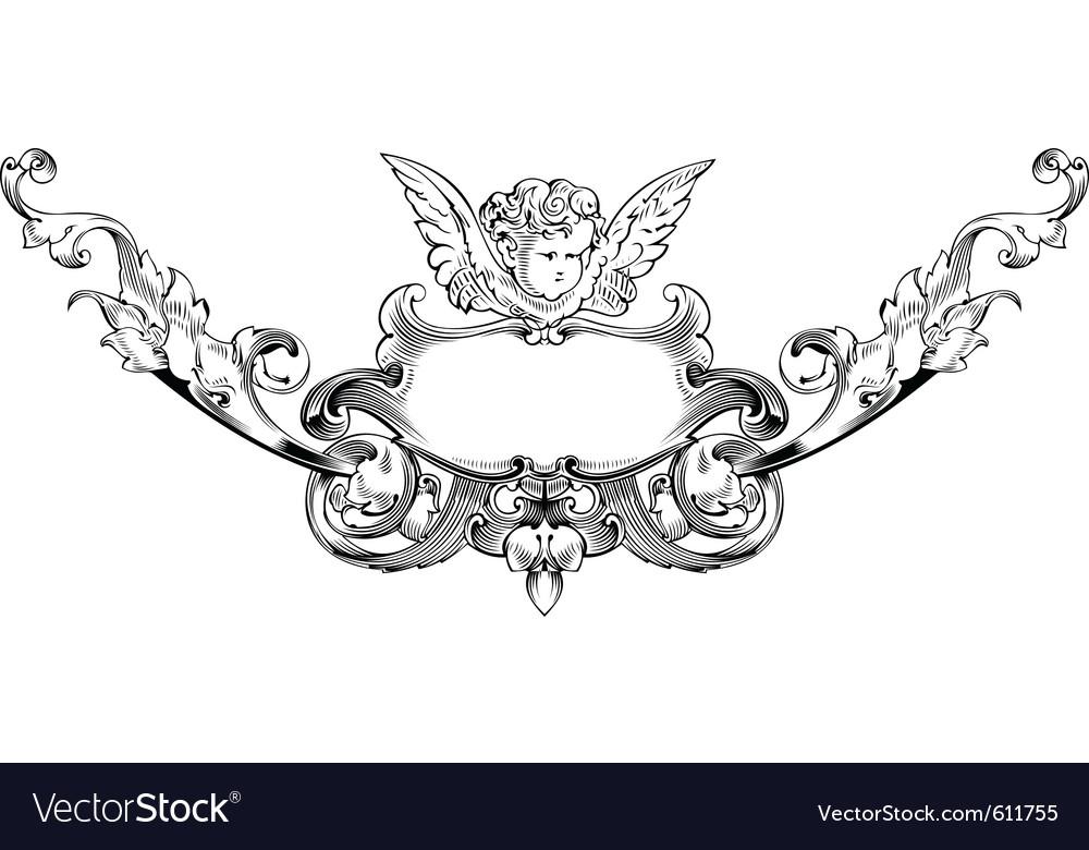 Cupid heraldry vector | Price: 1 Credit (USD $1)