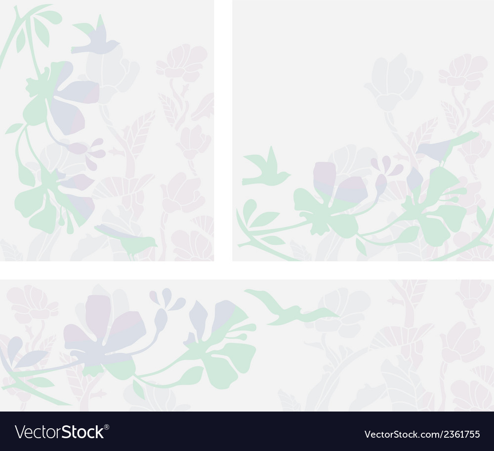 Floral layouts set vector | Price: 1 Credit (USD $1)