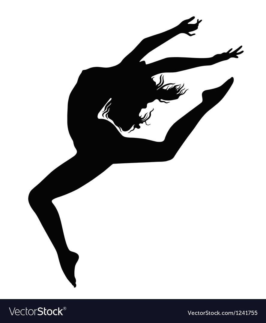 Girl in motion vector | Price: 1 Credit (USD $1)