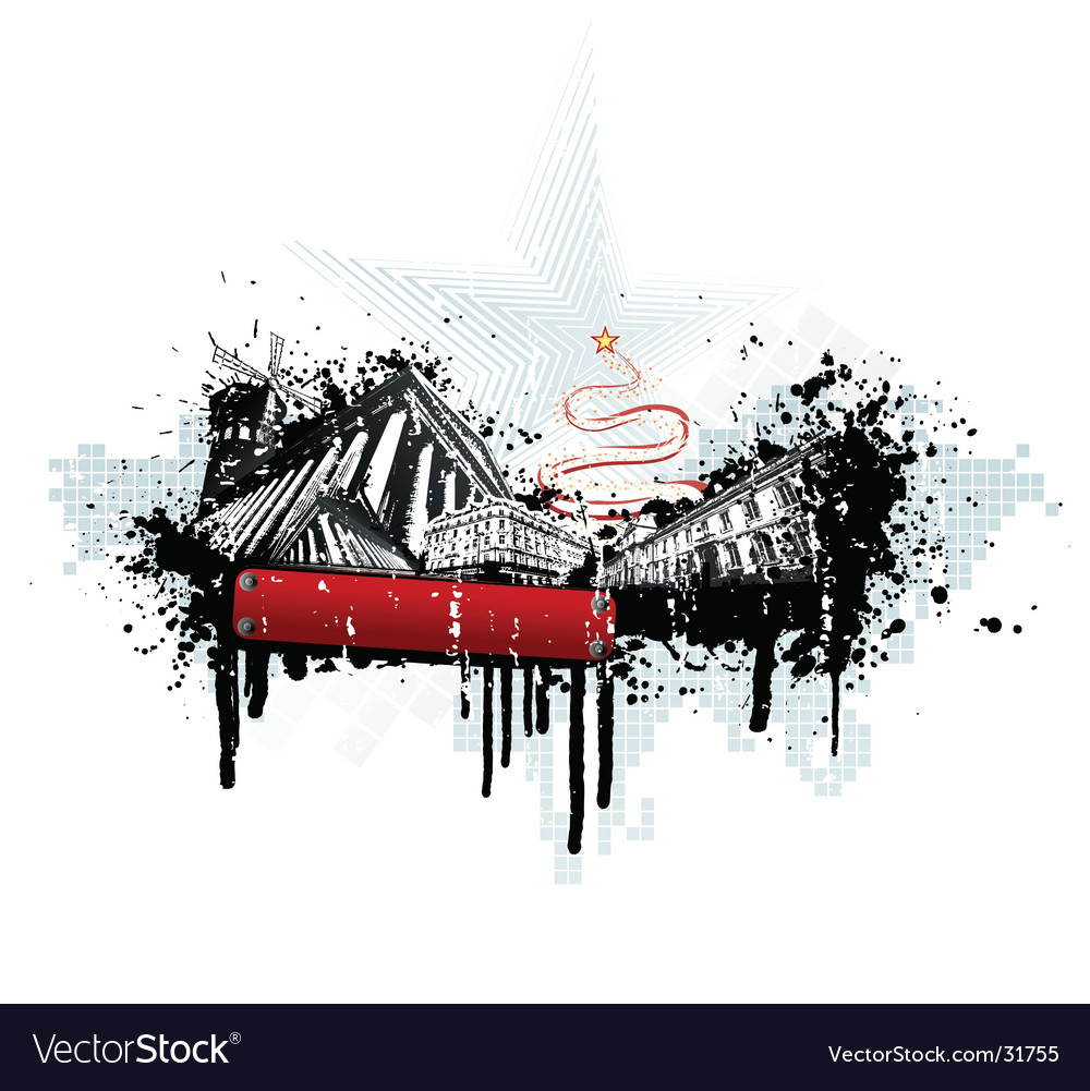 Grunge urban christmas vector | Price: 1 Credit (USD $1)