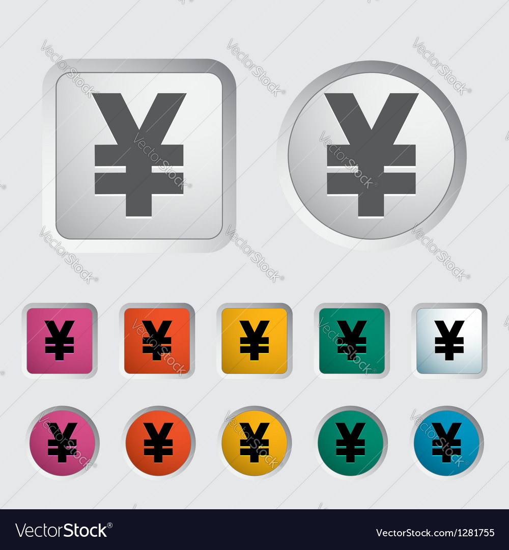 Icon yen vector | Price: 1 Credit (USD $1)