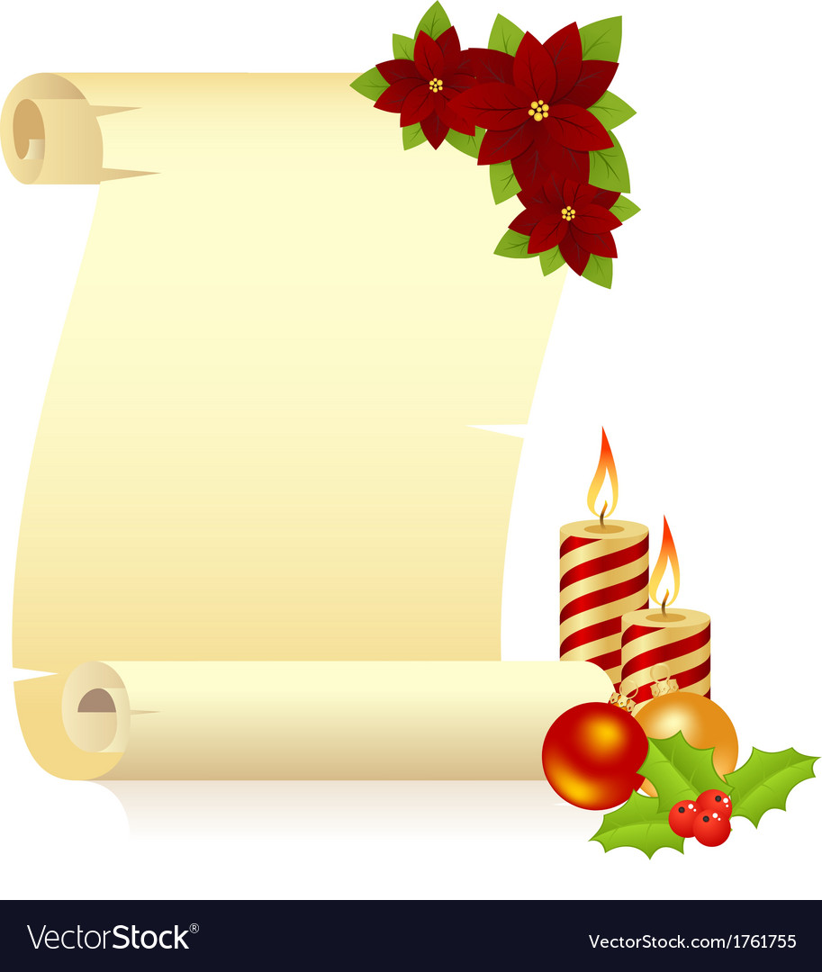Manuscript christmas candle vector   Price: 1 Credit (USD $1)
