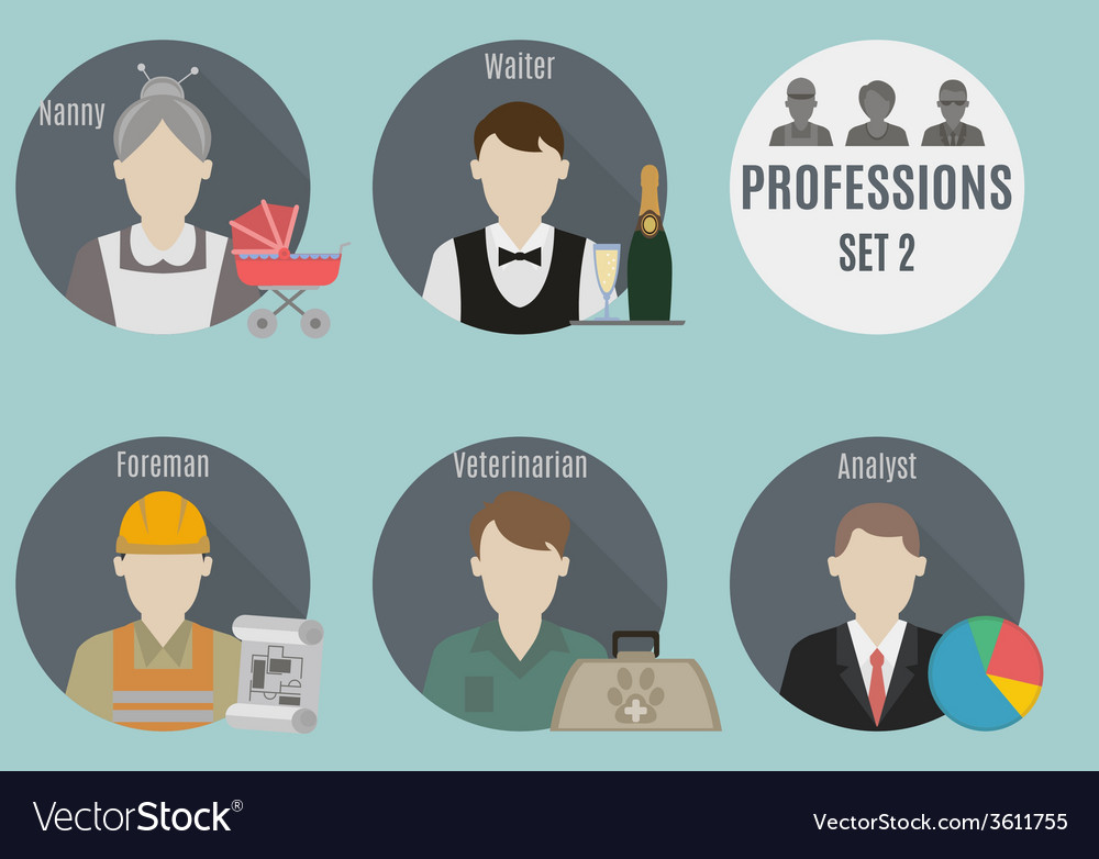 Profession people vector   Price: 1 Credit (USD $1)