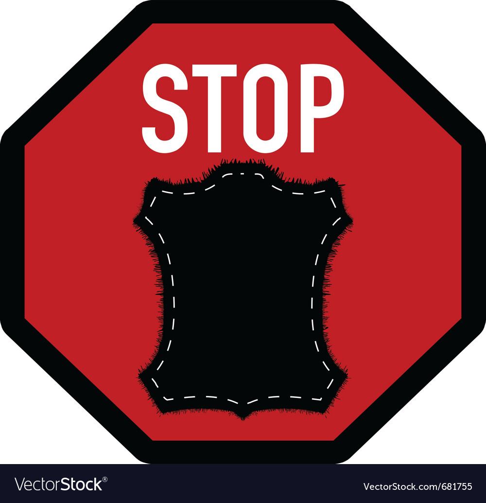 Stop fur vector | Price: 1 Credit (USD $1)