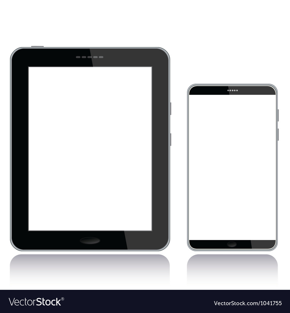 Tablet pc and smart phone vector | Price: 1 Credit (USD $1)