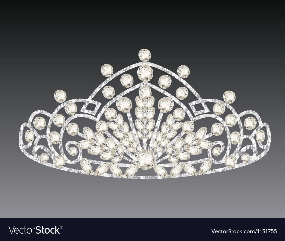 Tiara crown womens wedding on a grey background vector | Price: 1 Credit (USD $1)