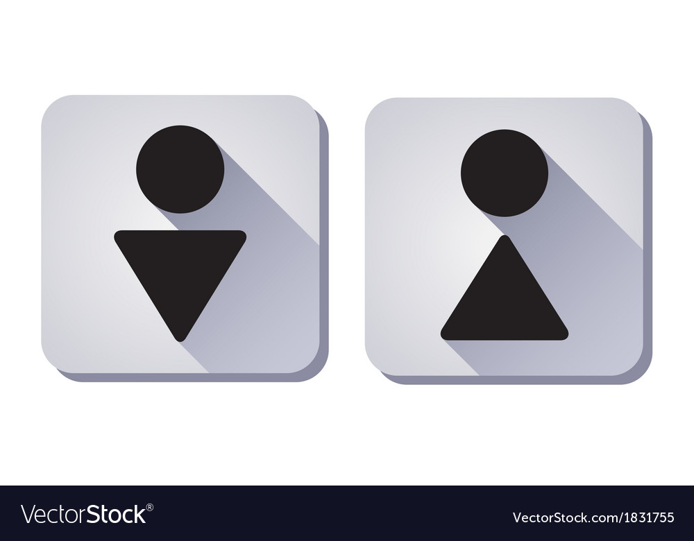 Toilet sign wc vector | Price: 1 Credit (USD $1)