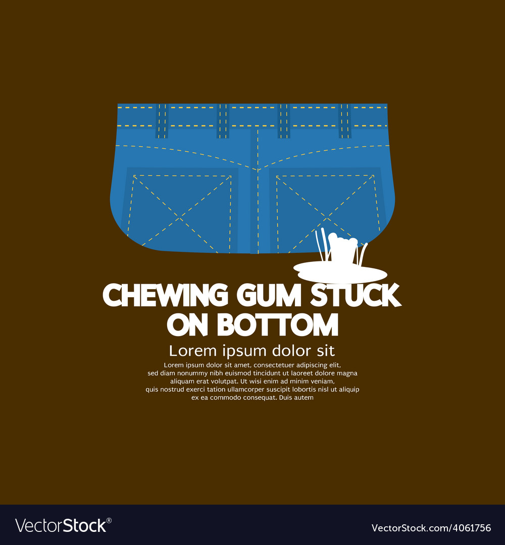 Chewing gum stuck on bottom vector | Price: 1 Credit (USD $1)