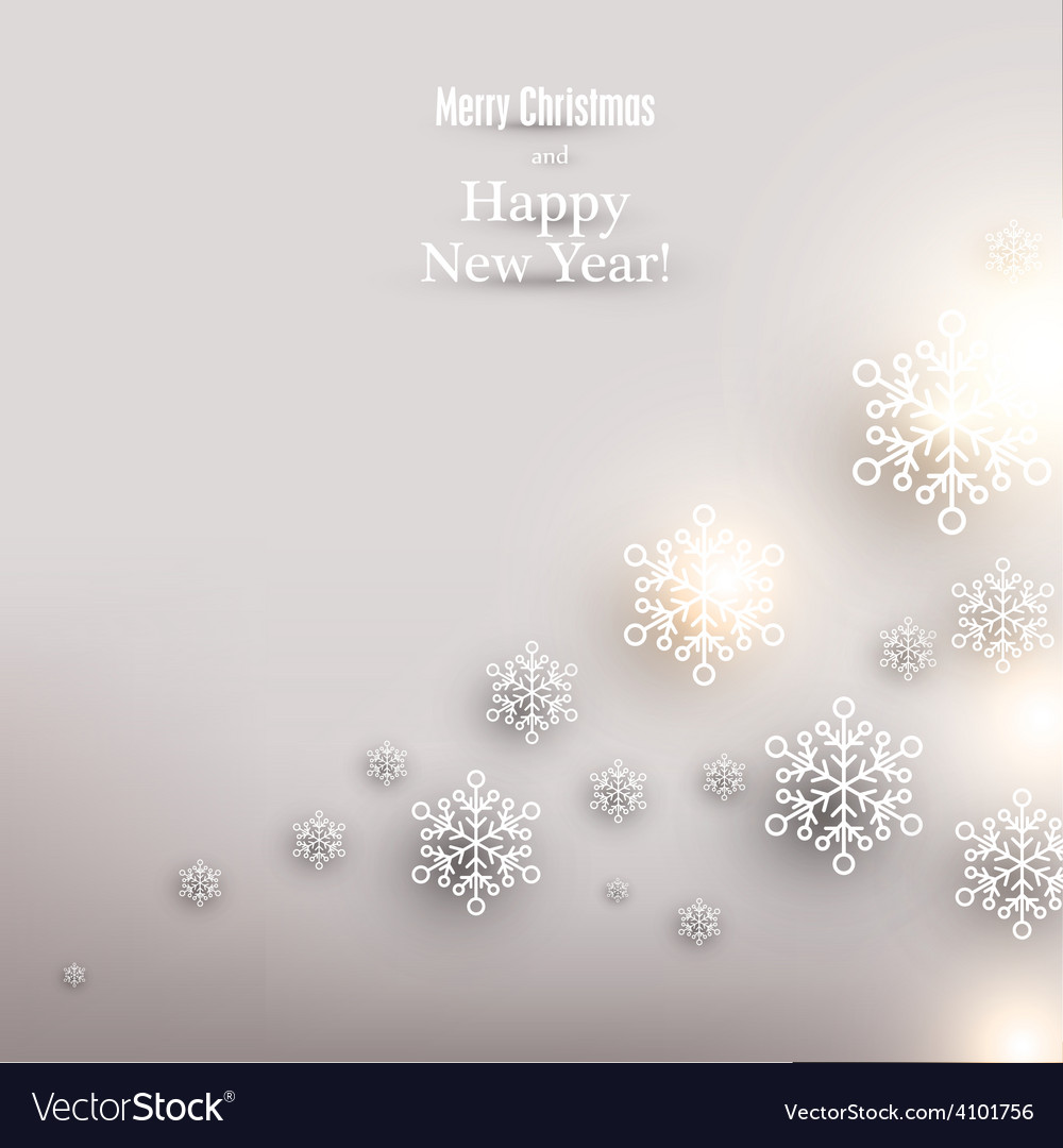 Christmas background with glowing snowflakes vector | Price: 1 Credit (USD $1)