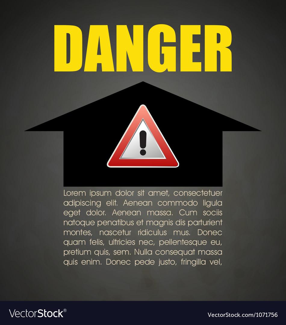 Danger vector | Price: 1 Credit (USD $1)