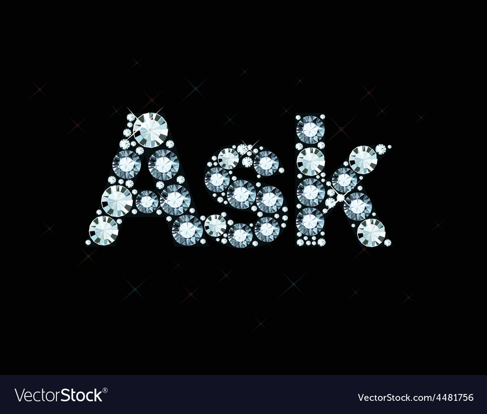 Diamond word ask vector | Price: 1 Credit (USD $1)