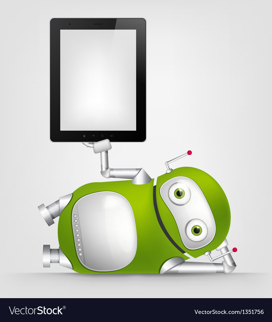Green robot vector | Price: 3 Credit (USD $3)