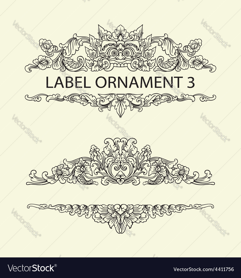 Label ornament 3 vector | Price: 1 Credit (USD $1)