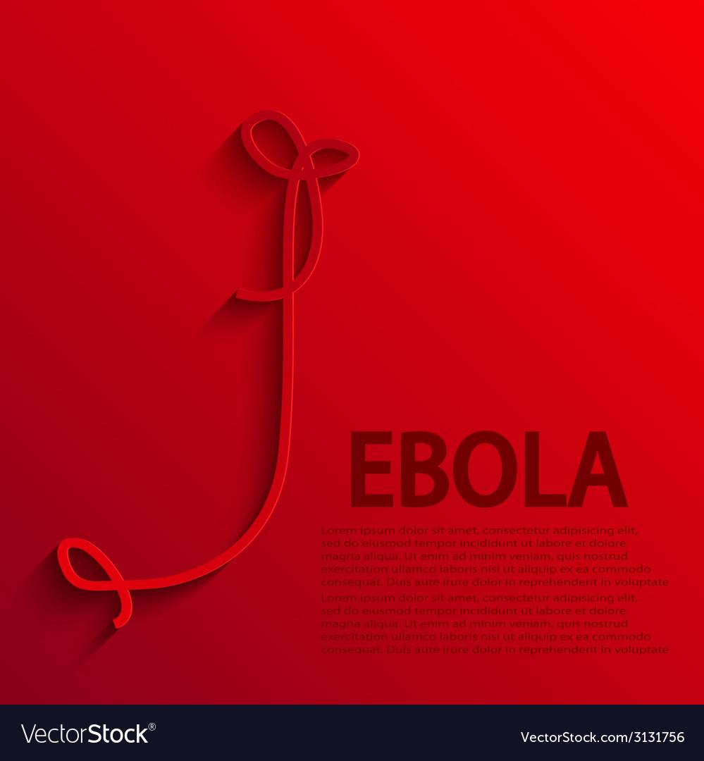 Modern ebola elemenr design vector | Price: 1 Credit (USD $1)