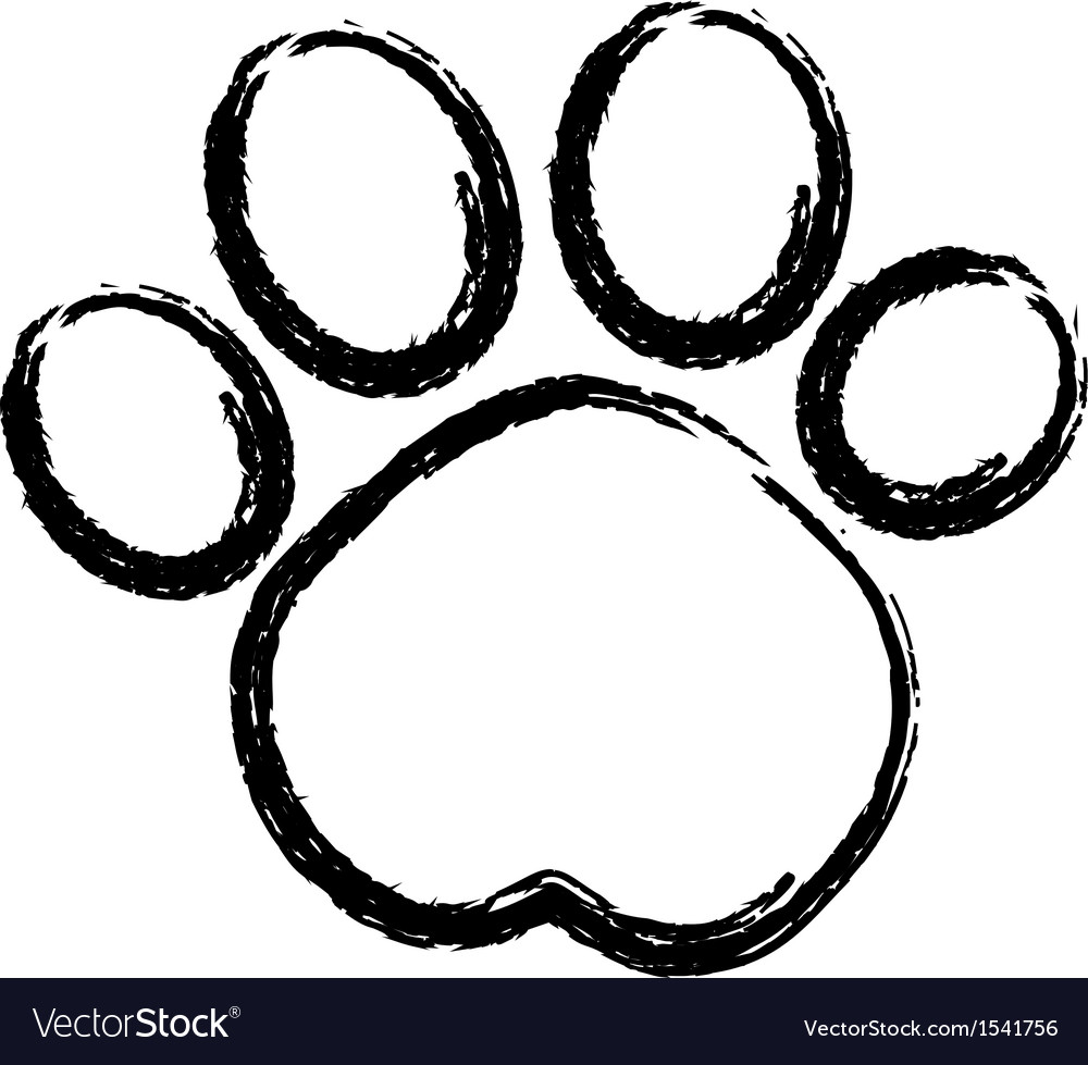 Paw print logo vector | Price: 1 Credit (USD $1)
