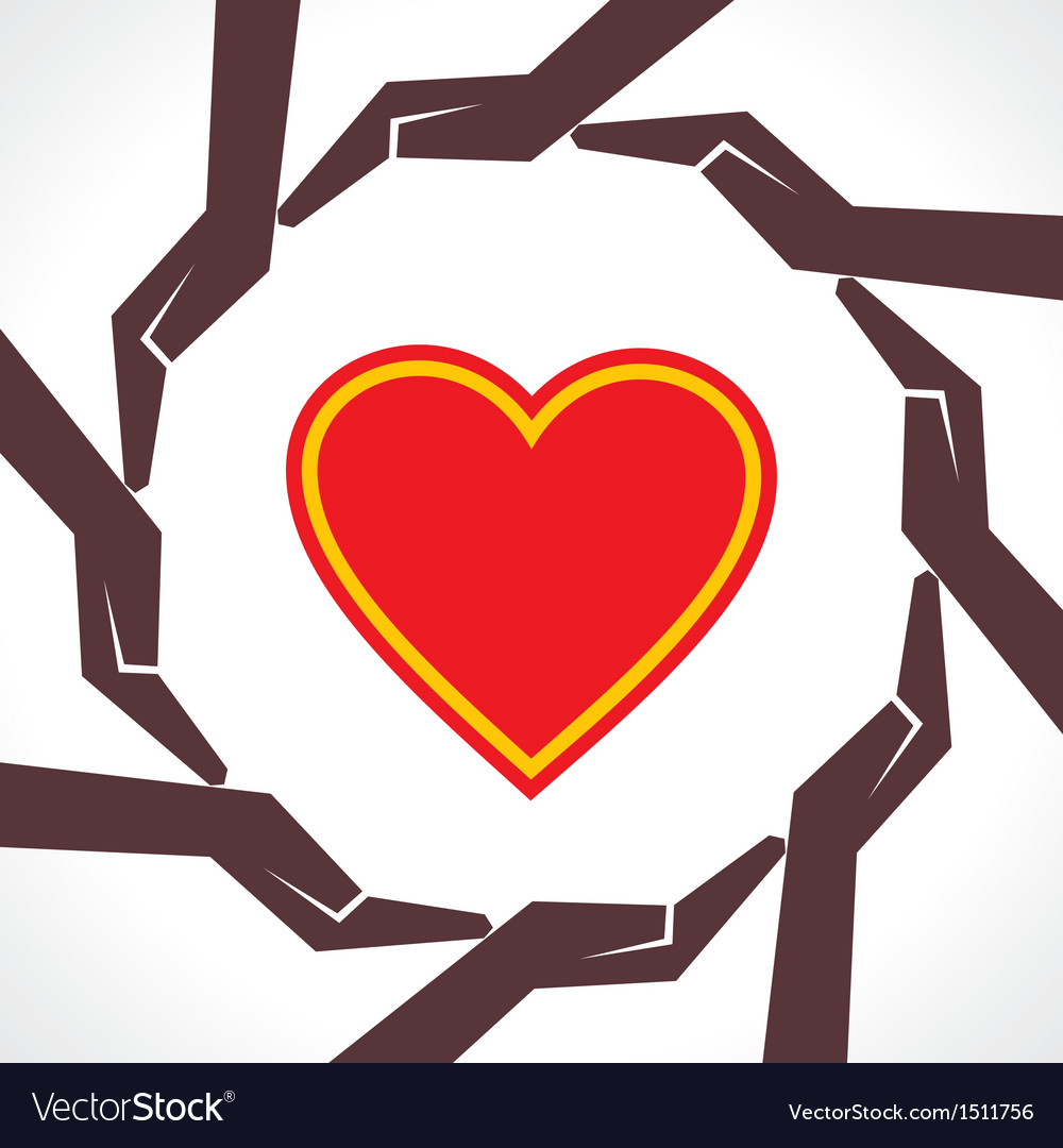 Protect human heart concept vector | Price: 1 Credit (USD $1)