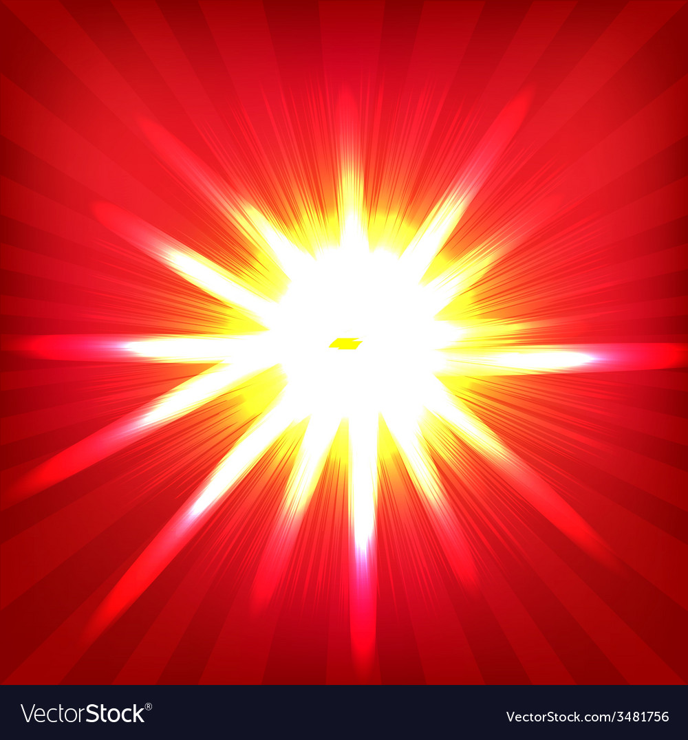 Red sunburst poster vector | Price: 1 Credit (USD $1)