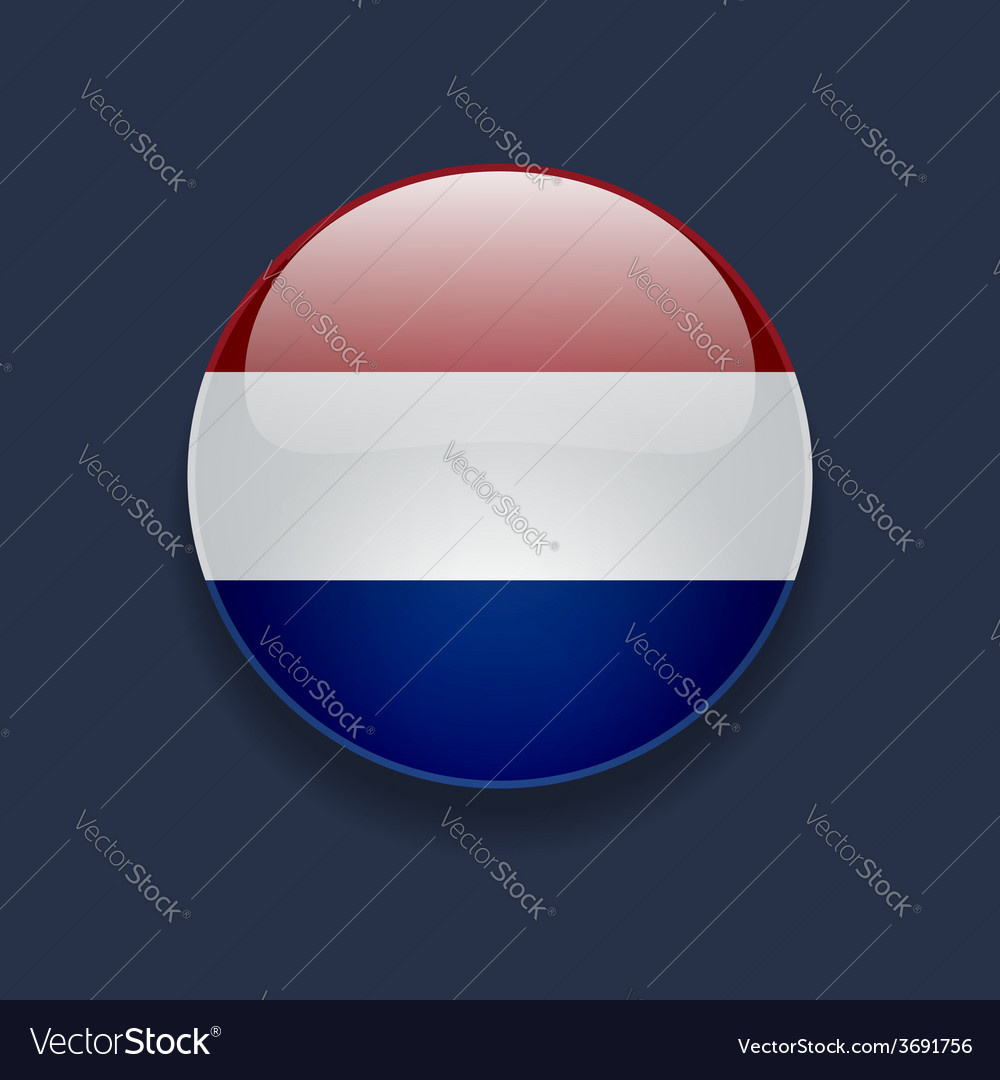 Round icon with flag of netherlands vector | Price: 1 Credit (USD $1)