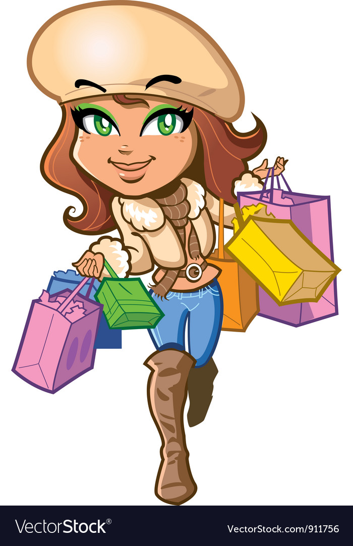Shopping girl vector | Price: 5 Credit (USD $5)