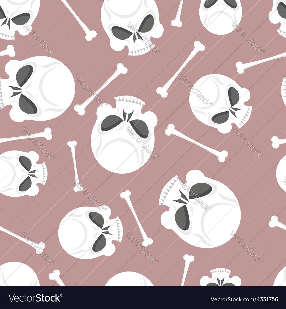 Skull and bones seamless pattern vector | Price: 1 Credit (USD $1)