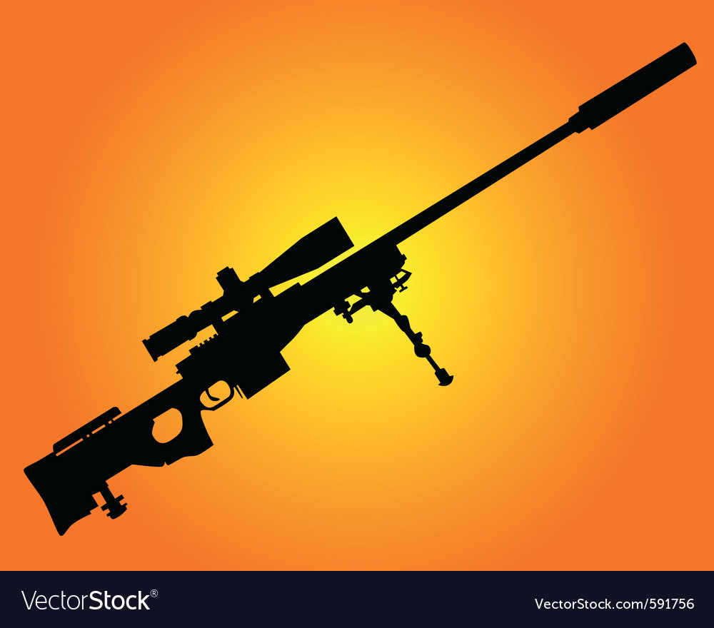 Sniper rifle vector | Price: 1 Credit (USD $1)