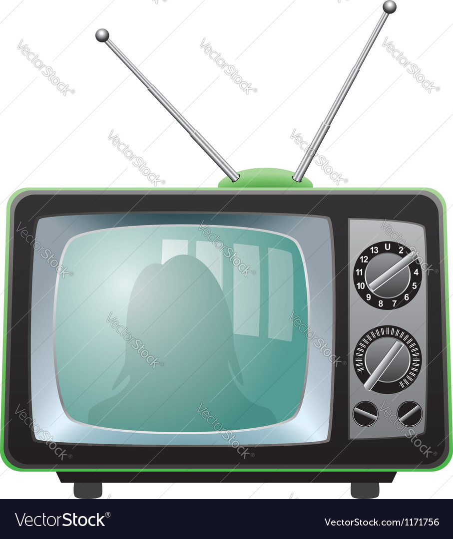 Tv set vector | Price: 3 Credit (USD $3)