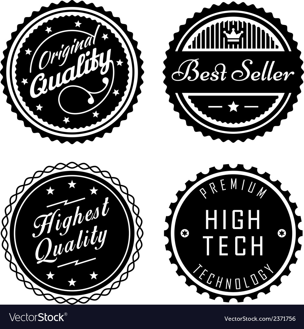 Vintage badges 2 vector | Price: 1 Credit (USD $1)