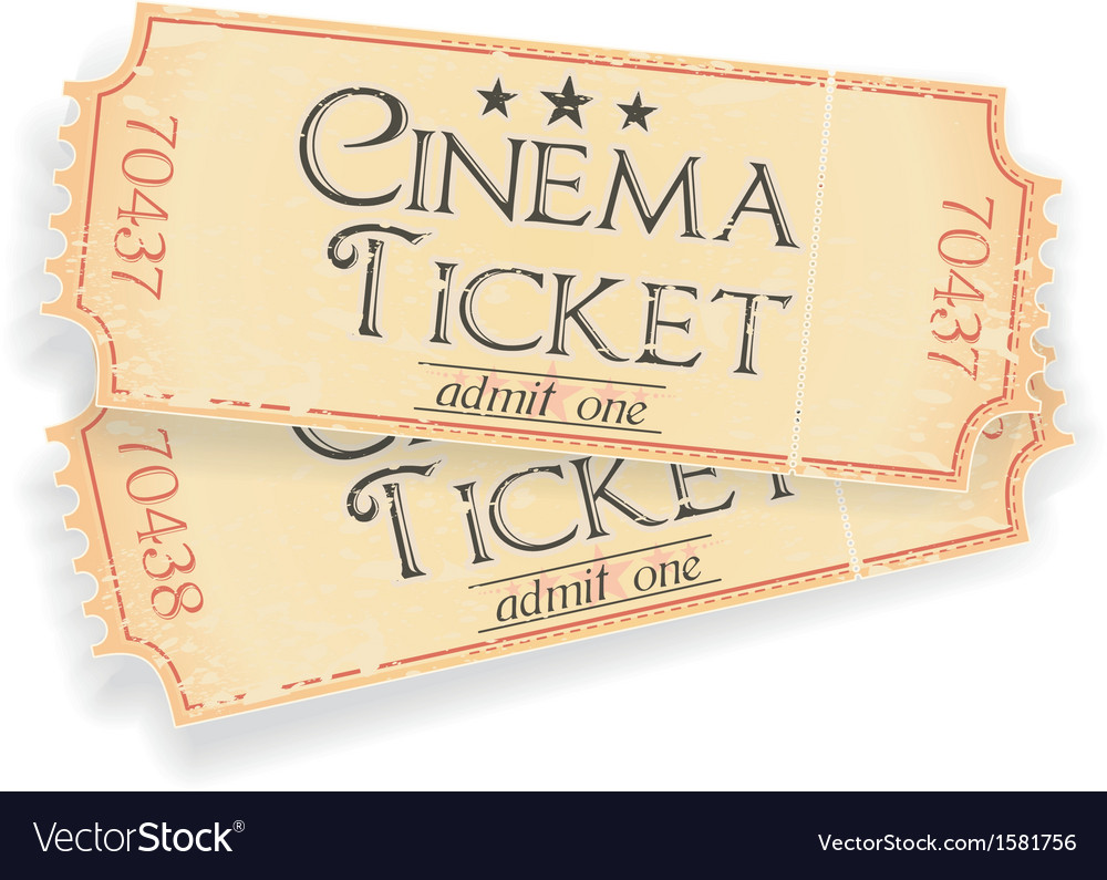 Vintage sinema ticket vector | Price: 1 Credit (USD $1)