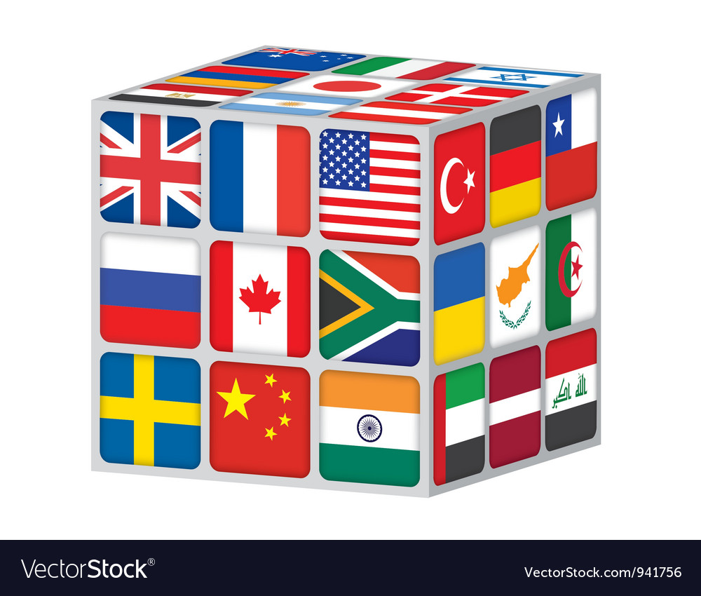 World cube vector | Price: 1 Credit (USD $1)