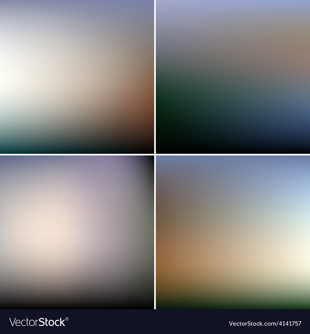 Abstract editable blurred backgrounds set vector | Price: 1 Credit (USD $1)