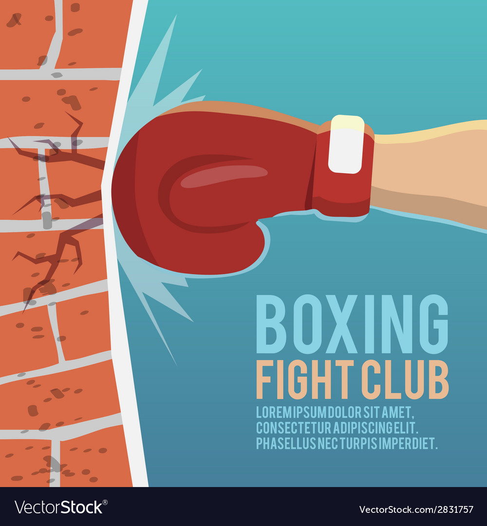 Boxer gloves hitting poster vector | Price: 3 Credit (USD $3)