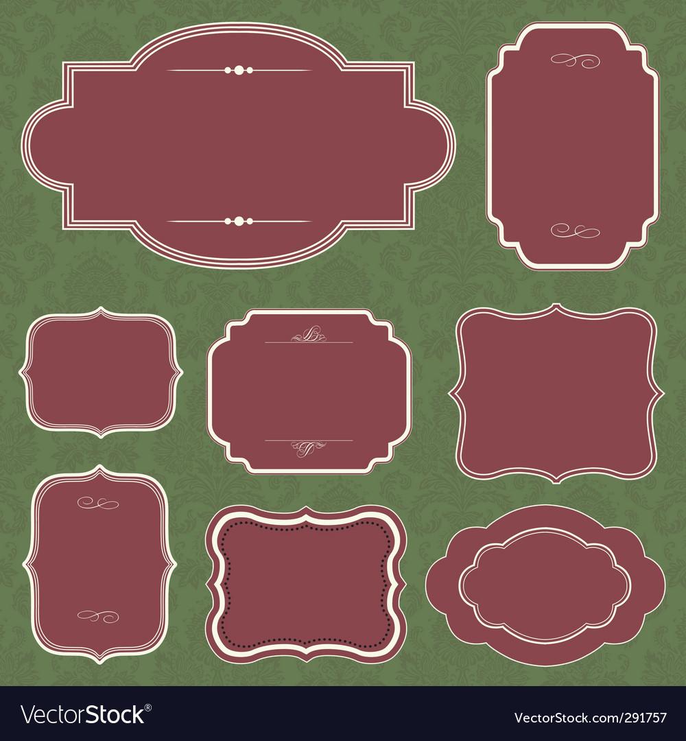 Christmas frame set vector | Price: 1 Credit (USD $1)