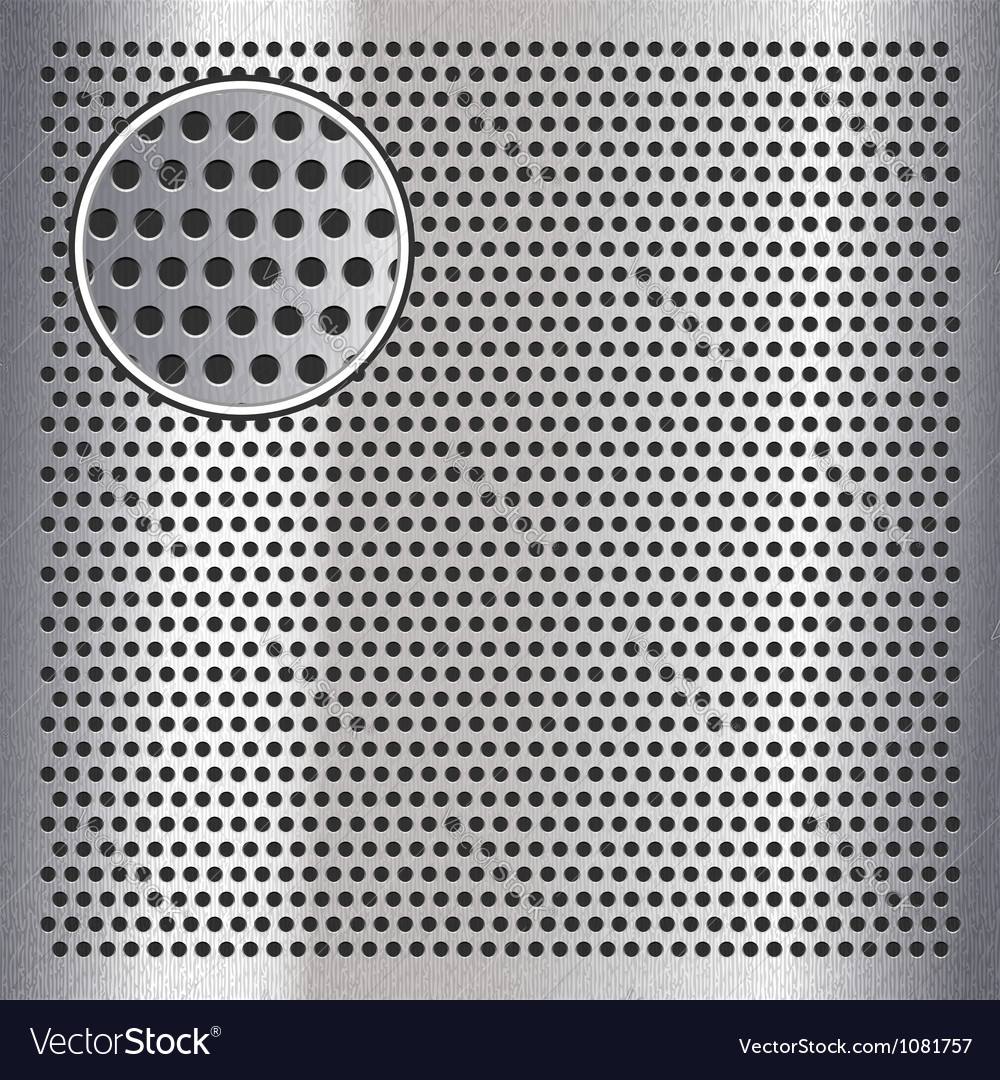 Chrome metal sheet surface with holes 10eps vector | Price: 1 Credit (USD $1)