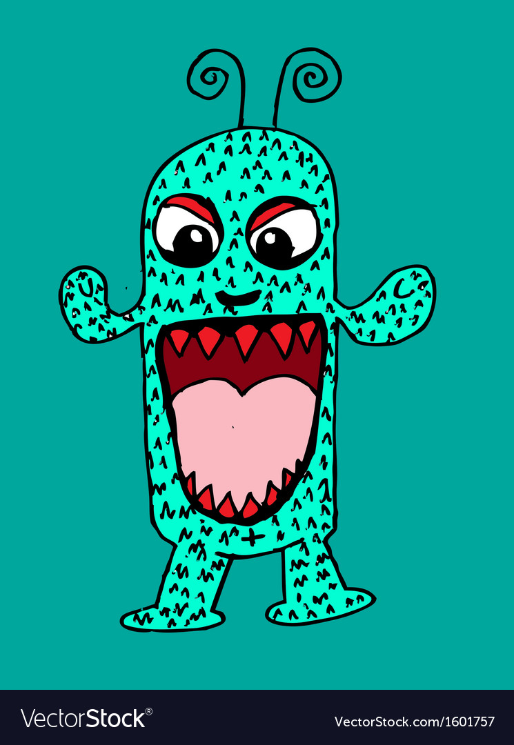 Cute monster cartoon vector | Price: 1 Credit (USD $1)