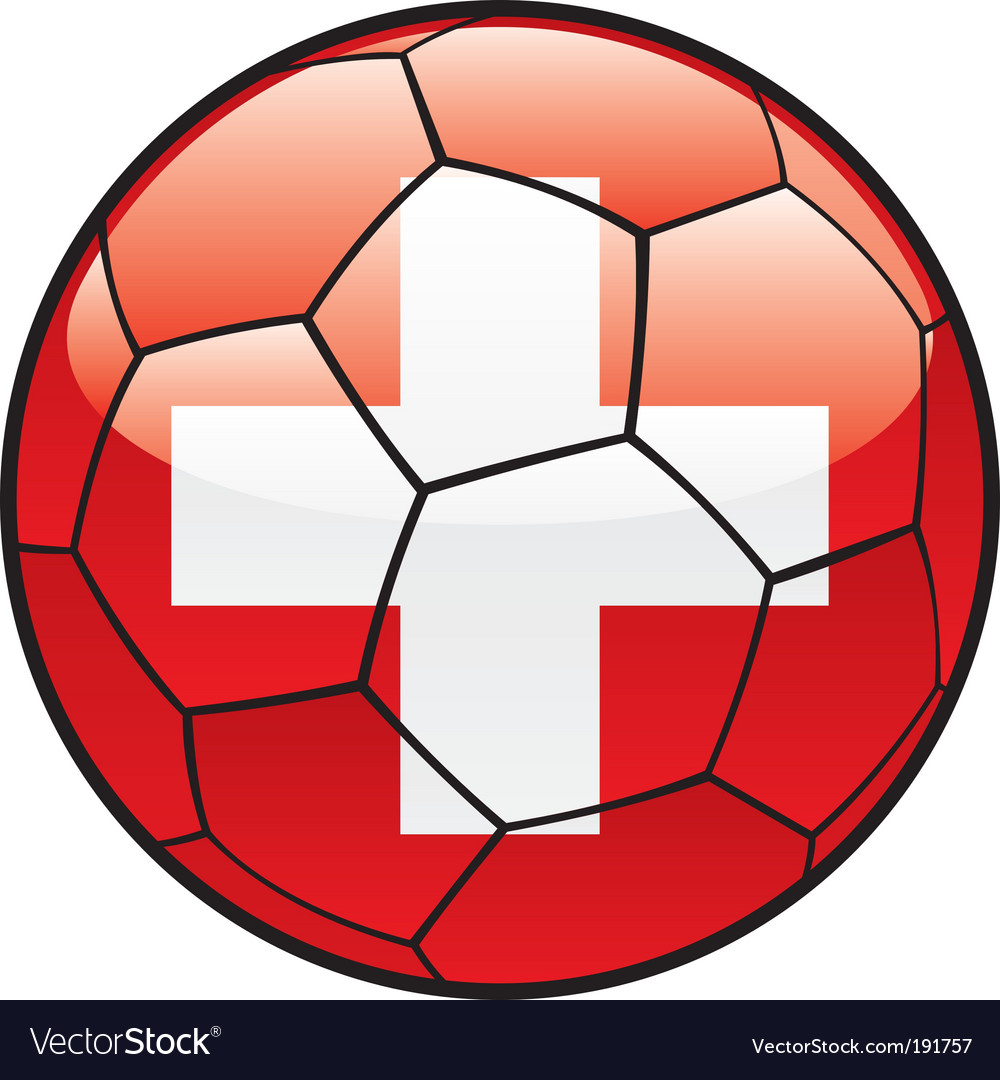 Flag of switzerland on soccer ball vector   Price: 1 Credit (USD $1)