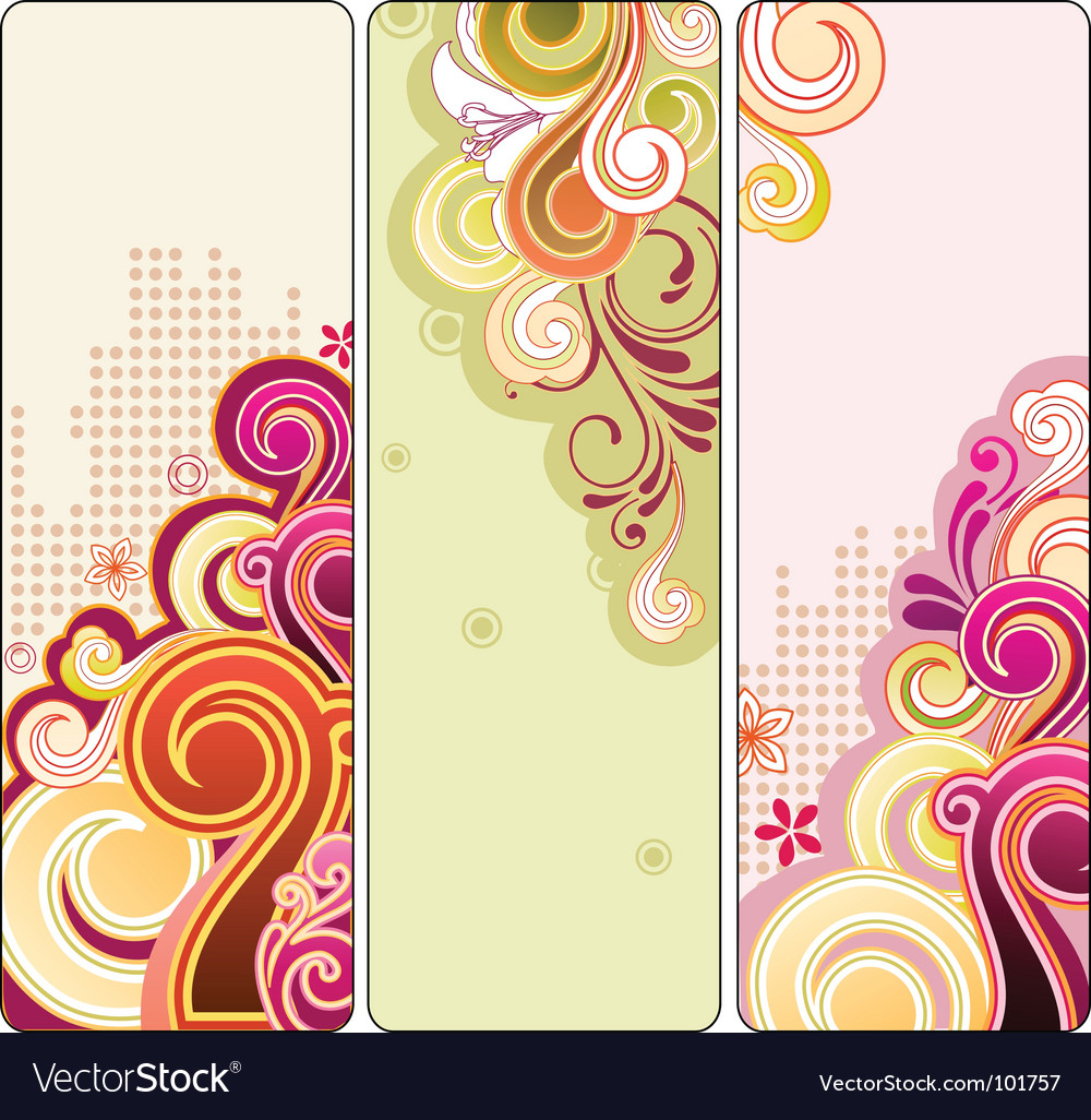 Funky banners vector | Price: 1 Credit (USD $1)