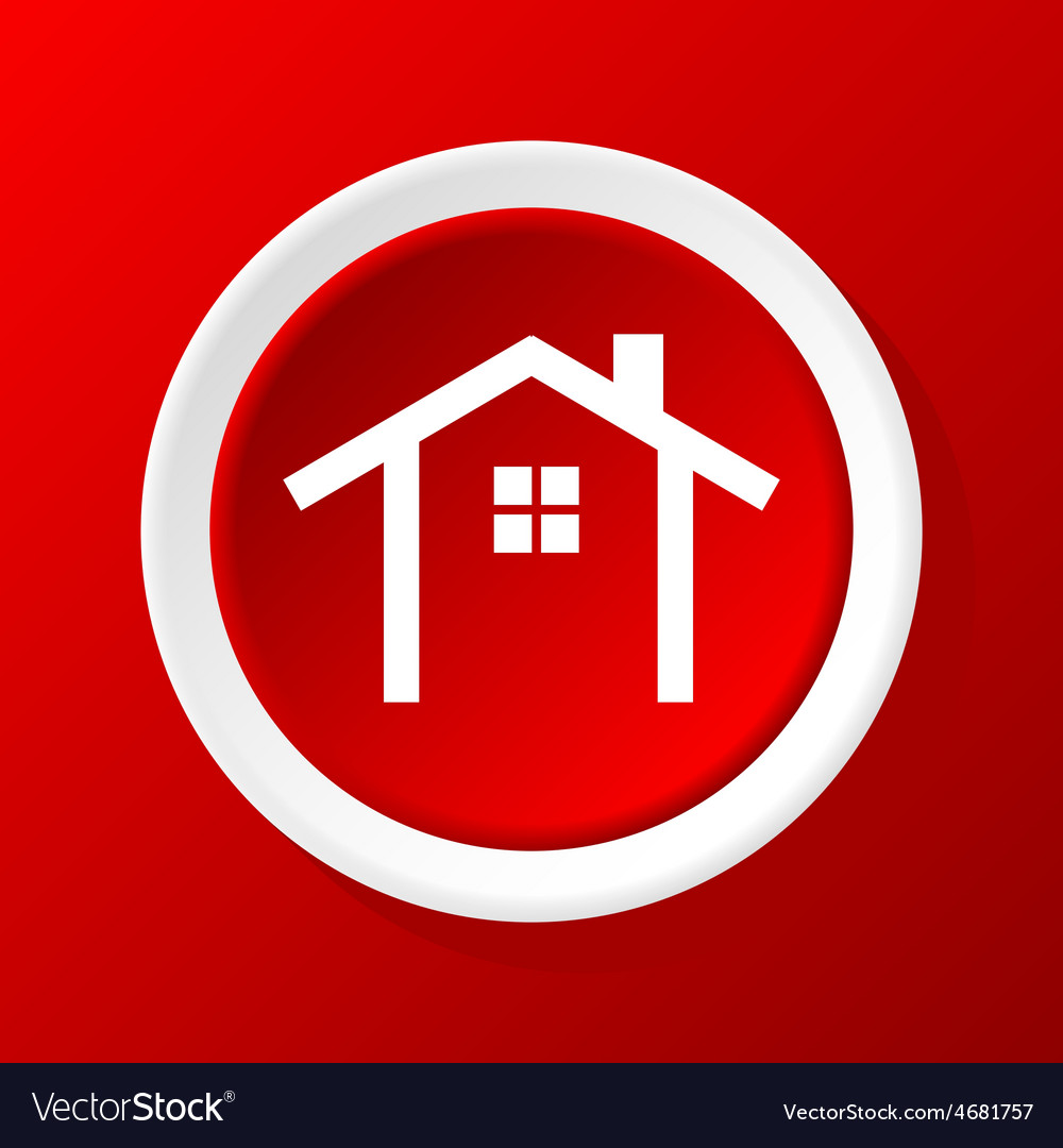 House contour icon on red vector   Price: 1 Credit (USD $1)